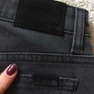 Joe's Jeans Skirts - Joe's Jeans Black Denim Step Hem Skirt