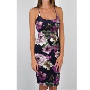 Dresses & Skirts - Navy Velvet Strappy Dress