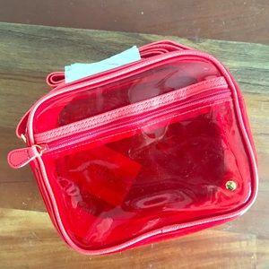 Stephanie Johnson Red Vinyl Miami Crossbody Bag