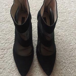 Zara Shoes - Zara Mesh + Suede Heeled Booties