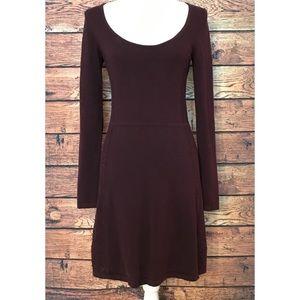 Victoria's Secret Burgundy Sweater Dress SZ S