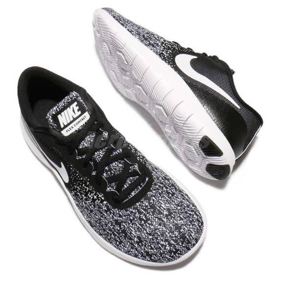 770fb4571150 Nike Flex Contact Women s Running Shoe  Blk Wht  7.  M 59d684202fd0b7f9e002db1f