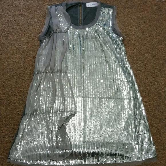 e2a84224 5th Culture Tops | Sparkly Silver Mini Dress Tunic | Poshmark