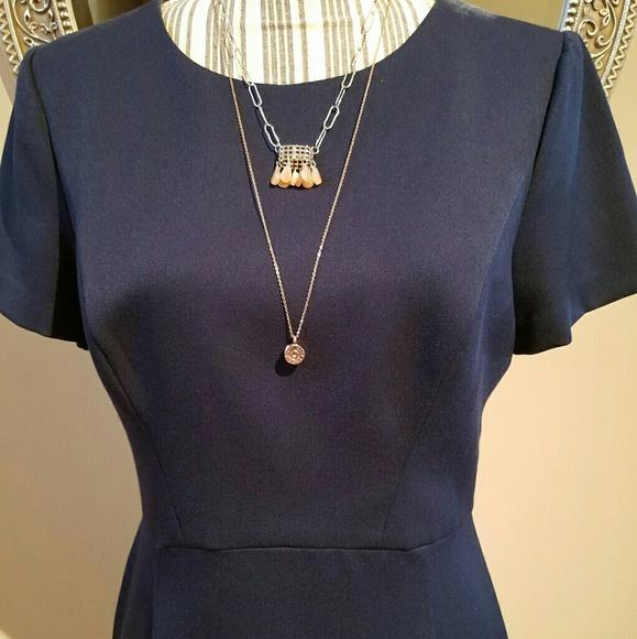 Black Halo Navy Blue Classic Dress 8-10