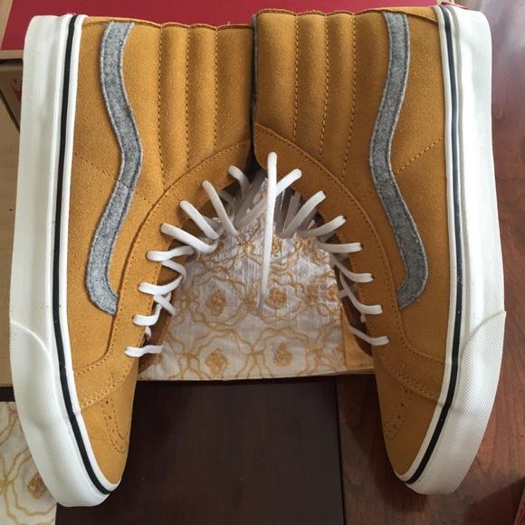 8992a9e125 Vans Sk8-Hi Slim Vintage Suede Amber Gold 10.5BNWT