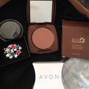 Avon glow bronzing powder light bronze color