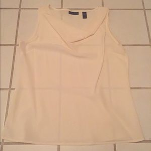 Almost sheer cream Karen Scott top size Large