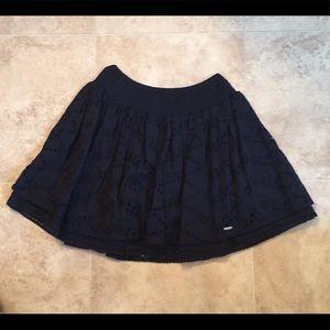 Gilly Hicks Small Navy Blue Layered Eyelet Skirt