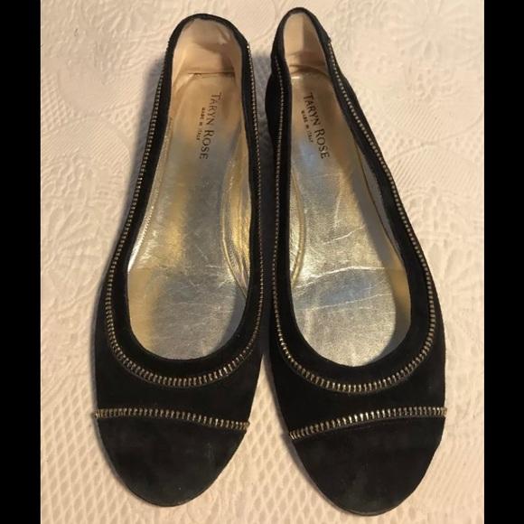 f9ac7450926 TARYN ROSE black suede ballet flats. M 59d696a52599fe5ae403377b