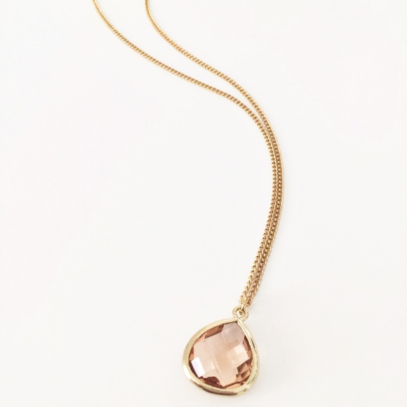 35 off Express Jewelry Express rose gold faceted pendant necklace