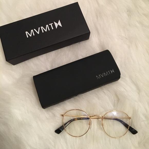 727b410a6d1 MVMT Icon Clear Retro Round Glasses