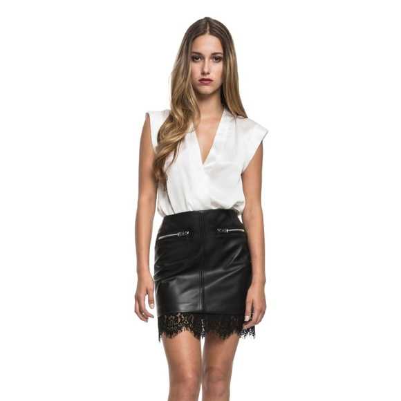 561b524a6 Lamarque cinta wrap silk bodysuit blouse