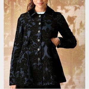 Free People Anthropologie Coat Size 10  Brocade