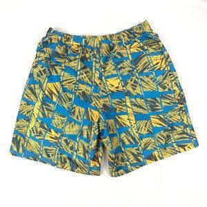 Nike Blue Yellow Volley Swim Trunk Board Shorts