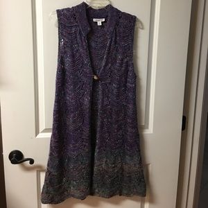Coldwater Creek, Sz L, Knee length Knitted Vest