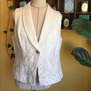 Coldwater Creek button front vest, size 14