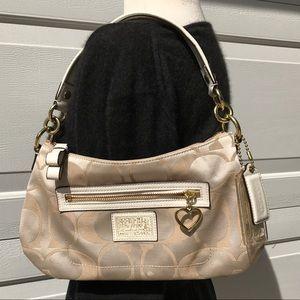 COACH signature white BAG purse like new logo