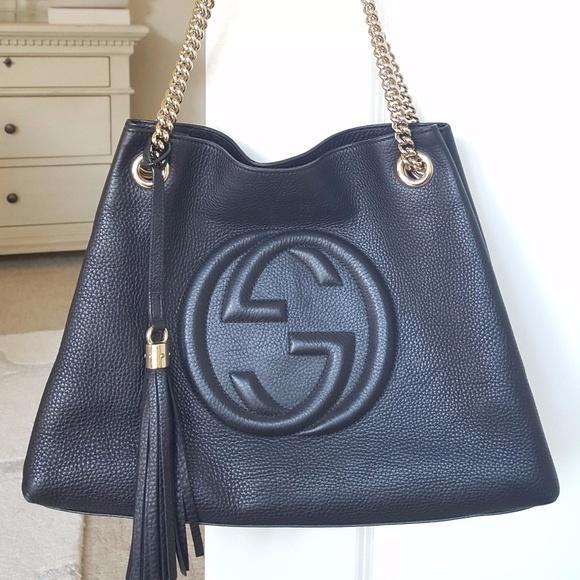 b15bc972fe4 Gucci Handbags - Gucci Medium Soho Chain-strap shoulder bag