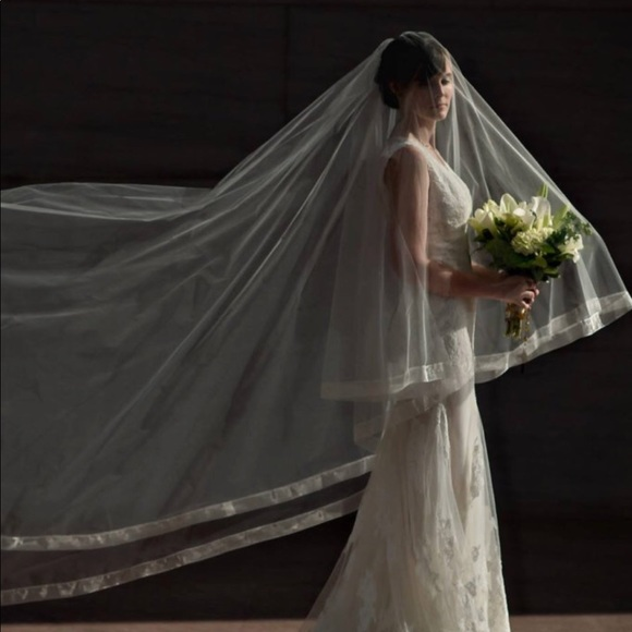 57% off BHLDN Accessories - Cathedral Wedding Veil - Drop Veil ...