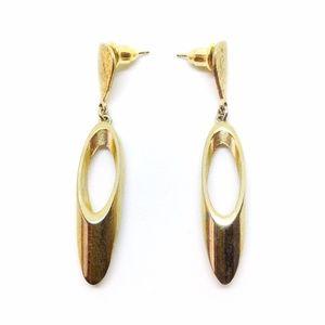 🎉LAST CHANCE 🎉 Earrings Gold Oval Dangle