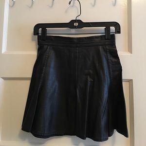 Tobi Black Leather Skirt (Size XS)