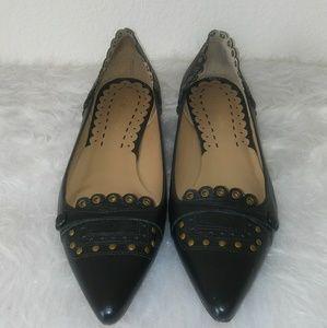 BCBG MAXAZRIA Black leathert Gold studded & Gromme