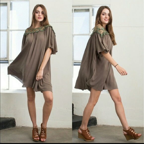 April Spirit Dresses & Skirts - Swing Dress in Olive nwt