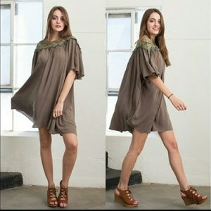 Swing Dress in Olive nwt