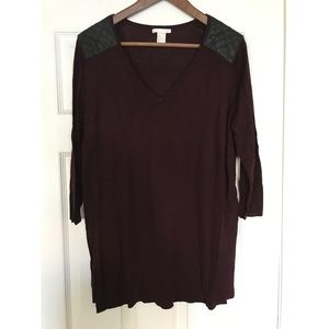 Burgundy Shirt / H&M