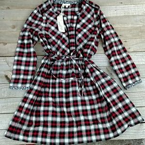 Mystree plaid tunic/dress Small