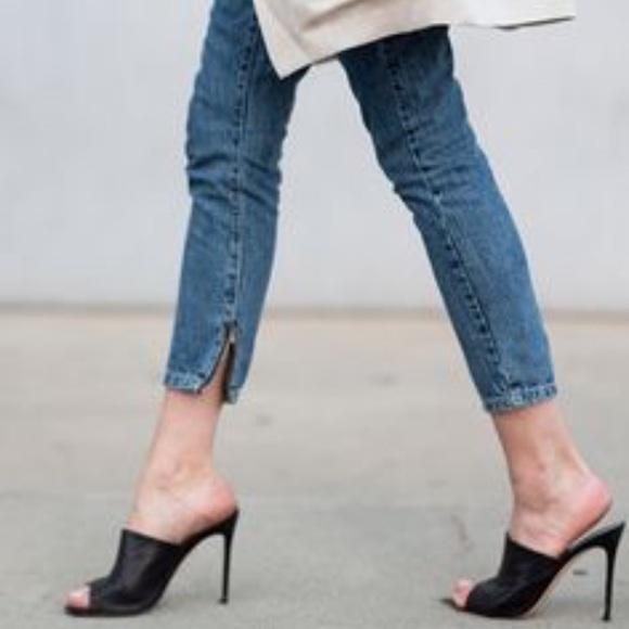 Sale Aldo Black Slip On Mule Heels