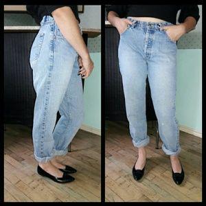 🍁Trend! 80's Anchor Blue high waist mom jeans!