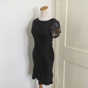 Foley + Corinna Silk Beaded Dress