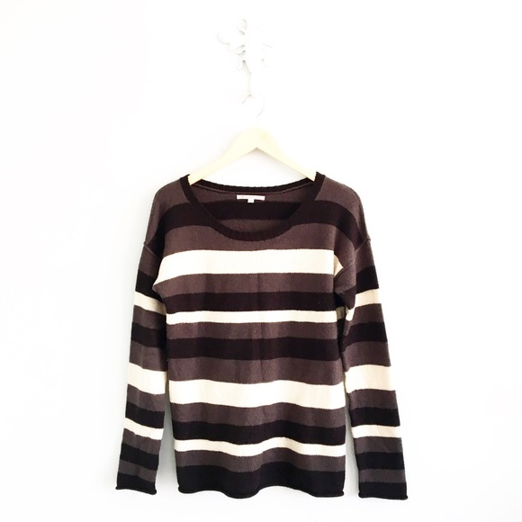 GAP - Gap Scoop Neck Brown & Black Striped Sweater from Kait's ...