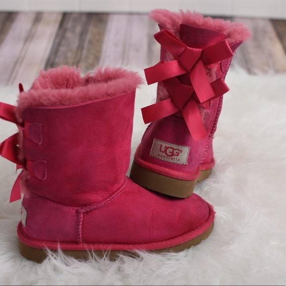 7b26bd1cb0e Uggs girls bailey bow pink boot. Pink girls uggs