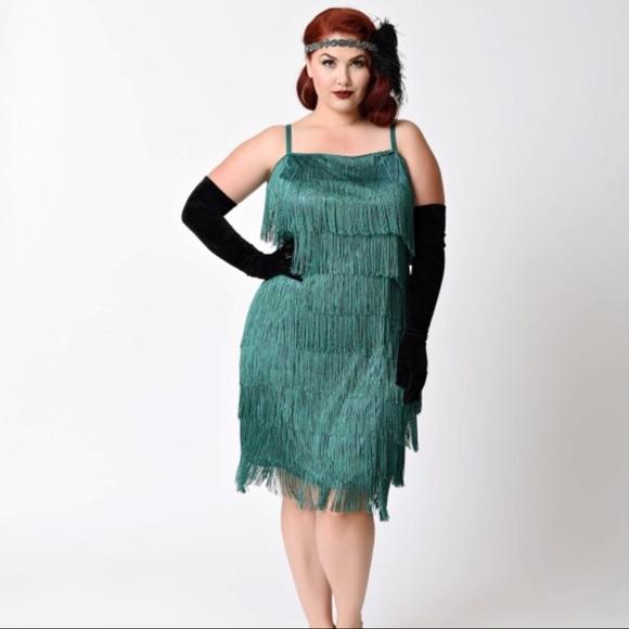 Unique Vintage - Plus Size Speakeasy Dress 2X
