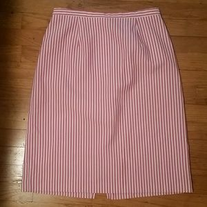 VTG Pink & White Candystriped Pencil Skirt! M♡
