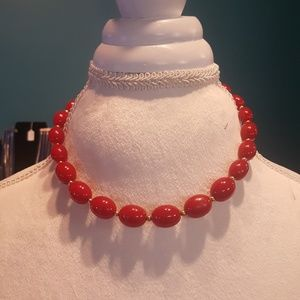 🌷5 for $25🌷Vintage Red Beaded Necklace