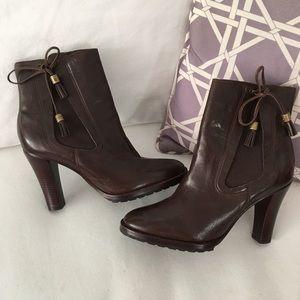 Lauren Ralph Lauren Dacey Tassel Ankle Boots 6