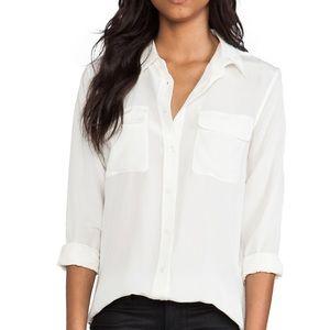 Signature Equipment Silk Top Bright White XS NWOT