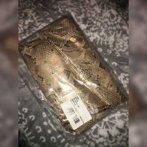 *NEW* Gold Snake Foldover  Clutch