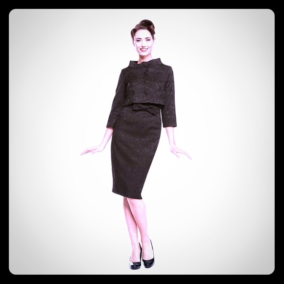 1950's Jackie O Style Twin Set Jacket and Dress Boutique
