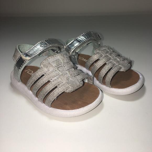 Toms Shoes   Silver Sandals Infant Size