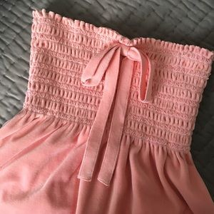 Juicy Couture Strapless Pink Velour Top MEDIUM