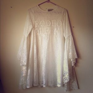 WILDFOX Rodeo Queen White Lace Dress