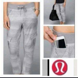 Lululemon carry and go grey cargo pants
