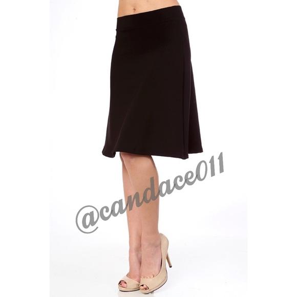 b72ef6c34 CC Boutique Skirts   Black Fit Flare Midi Skirt   Poshmark