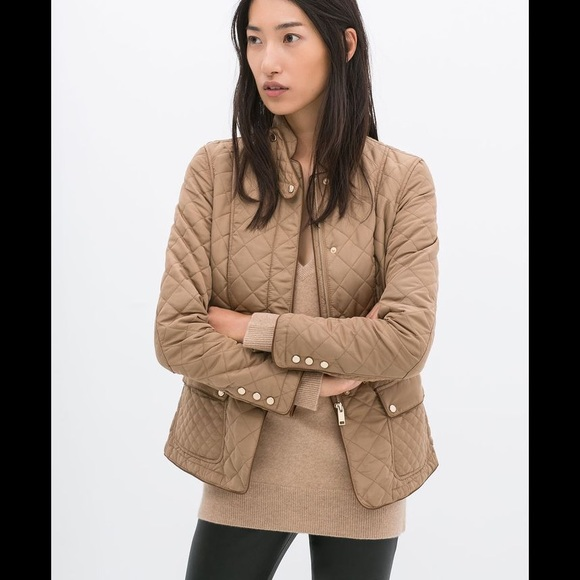 f0c75f3f5a Massimo Dutti Jackets & Coats | Quilted Jacket Nude Size S | Poshmark