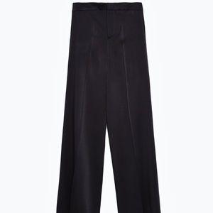 Zara black wide legged trousers