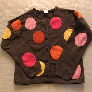 Gymboree Other - New Girls Sweater Brown with Polka dots 7/8